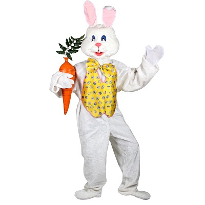 And WHY is the easter bunny wearing a vest? NO ONE wears vests, let alone a furry, long-eared animal.