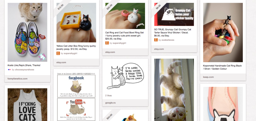 "A sampling of my ""kitties"" board. I especially love the cat/poop box ring!"