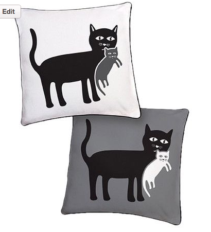 cat mom pillow