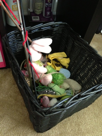 The basket of unwanted toys. Toy Story 9 Lives? I gotta call Pixar.